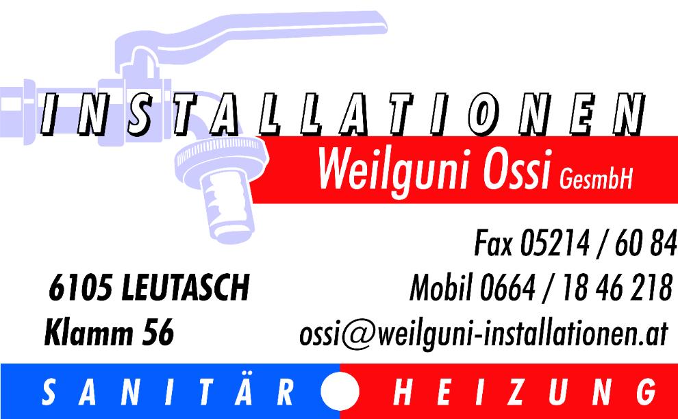 Installationen Weilguni Ossi